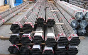 imballi di tubi in acciaio inox in barre tagliate